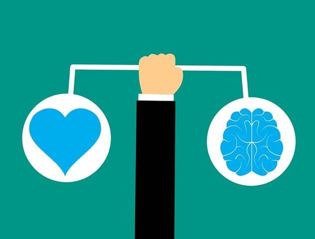 Gehirn, Herz, Gehirn-Symbol, Emotionale Intelligenz